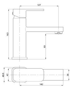 Смеситель для умывальника Bennberg однорычажный 111020 Хром
