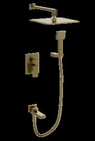 Душевой комплект скрытого монтажа 300*300 BENNBERG 140111 BRONZE