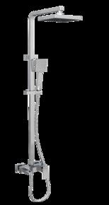 Душевая система Bennberg 160111-01 со стационарной лейкой, хром
