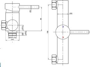 Смеситель настенный для биде Bennberg одноручковый 170H13 Хром