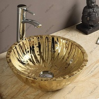 Керамическая раковина Melanа MLN-J2089, золото