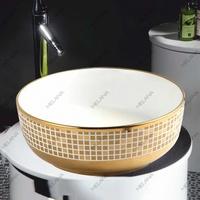 Керамическая раковина Melanа MLN-T4003-G2, золото