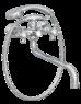 Смеситель для ванны Bennberg двухвентильный дл. изл. 591121 Хром
