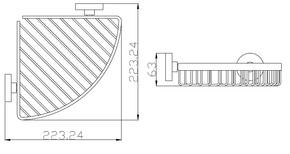 Навесная полка для ванной Bennberg BA-44 Хром