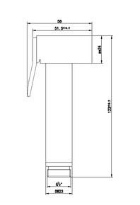 Лейка для биде Bennberg квадрат IWH-011 Хром