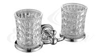 Держатель стаканов двойной, стекло Elghansa PRAKTIC PRK-422, хром