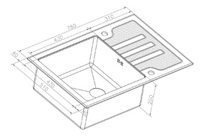 Мойка для кухни Zorg GL-7851-BLACK