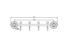Вешалка с 4 крючками Elghansa PRAKTIC PRK-640, хром