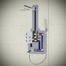 Душевая система скрытого монтажа с термостатом Timo Tetra-Thermo SX-0199/00SM хром