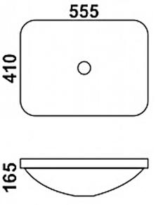 Керамическая раковина Melana MLN-1422C