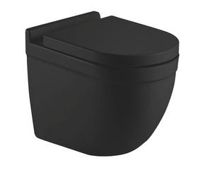 Унитаз подвесной безободковый RIMLESS Ceramalux 2198MB черный матовый