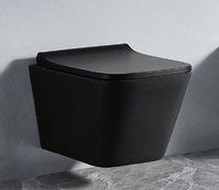Унитаз подвесной безободковый RIMLESS Ceramalux 5171MB черный матовый
