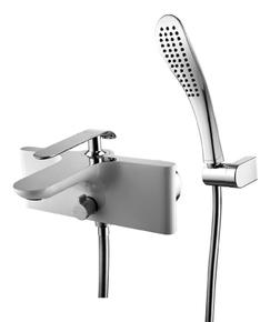 Смеситель для ванны Lemark Melange LM4914CW хром/белый