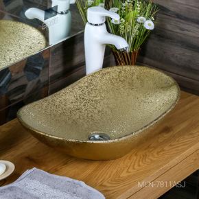 Керамическая раковина Melanа MLN- 7811ASJ, золото