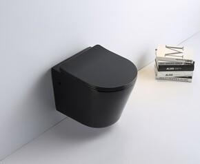 Унитаз подвесной безободковый Ceramalux B2330B, черный глянцевый