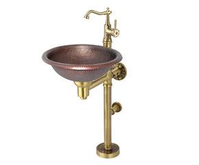 Раковина напольная из меди BronzeDeLuxe 10109BR со смесителем