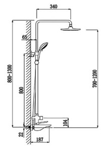 Душевая система Timo Helmi SX-1070/00-16 (412) Хром/белый