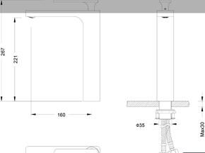 Смеситель для раковины-чаши Timo Torne 4311/03F Черный