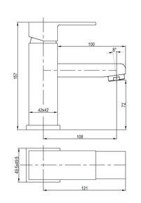 Смеситель для умывальника Bennberg одноручковый 110111-01 Хром