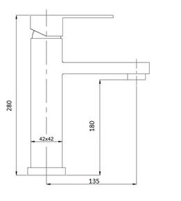 Смеситель Bennberg для раковины однорычажный 110111-02,хром