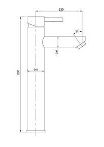 Смеситель Bennberg для раковины однорычажный 110313-02,хром