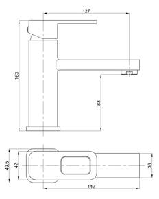 Смеситель для умывальника Bennberg однорычажный 111021 Хром