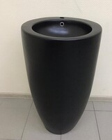 Керамическая напольная раковина моноблок CeramaLux В133MВ,черная матовая