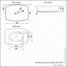 Керамическая раковина Melana MLN-78413(A537)