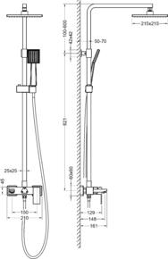 Душевая система Timo Selene SX-1030/03 Черный