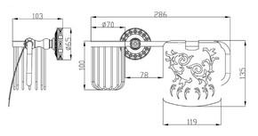 Держатель освежителя воздуха и туалетной бумаги Zorg SL AZR 20 SL