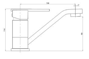 Смеситель для умывальника Bennberg однорычажный 11Р122 Хром