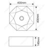Керамическая раковина Melanа MLN-A460