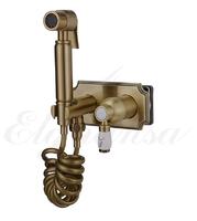 Смеситель Elghansa 12C0884-Bronze (Set-49) для скрытого монтажа с набором для гигиенического душа