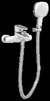 Смеситель для ванны Bennberg 130616 White+Chrome