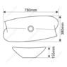 Керамическая раковина Melanа MLN-T4218