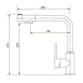 Смеситель для кухни под фильтр KAISER Teka 13044-5 Nickel