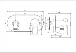 Смеситель Elghansa 15R0883-Black (Set-84) для скрытого монтажа с набором для гигиенического душа