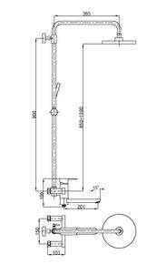 Душевая система для душа Bennberg однорычажная 160212-02 Бронза