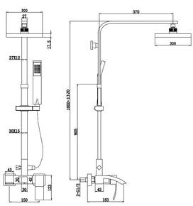 Душевая система для душа Bennberg однорычажная 160919 ХРОМ+БЕЛЫЙ