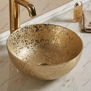 Керамическая раковина Melanа MLN-107SJ, золото