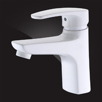 Смеситель Elghansa MONICA WHITE 1622519-White для умывальника однорычажный, белый