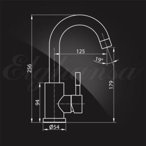 Смеситель Elghansa STAINLESS STEEL 16B4031-Steel для умывальника однорычажный, нержавеющая сталь