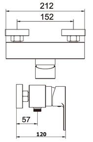 Смеситель для душевой кабины Bennberg одноручковый 170111 Бронза