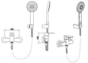 Смеситель для душевой кабины Bennberg одноручковый 170212 Хром