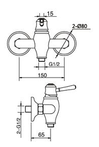 Смеситель настенный для биде Bennberg одноручковый 170H17 Хром