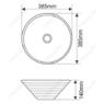 Керамическая раковина Melanа MLN-7020-B5, персиковая