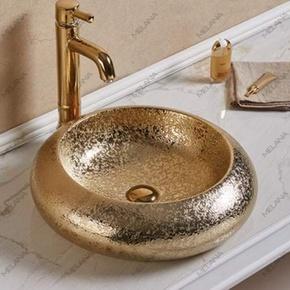 Керамическая раковина Melanа MLN-7031ASJ, золото