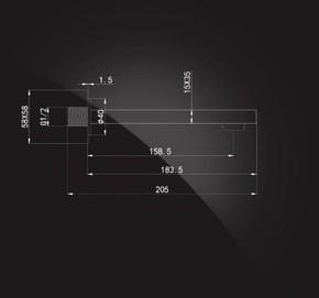 Излив встраиваемый настенный 160 мм Elghansa RS-7W хром