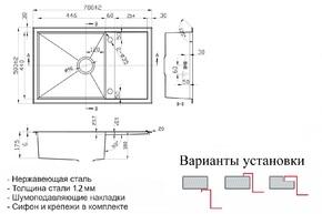 Кухонная мойка Zorg SH X 7850