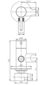 Смеситель встраиваемый с душевым набором Bennberg 18DK013 Хром